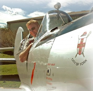 In the front seat of a de Havilland DHC1 Chipmunk at Breighton airfield.