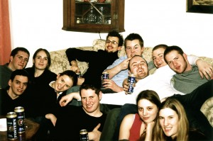 Some university chums at Ampleforth – happy days!